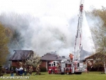Station 43 assisted Station 27 Jackson Township at thie dwelling fire.  Photo Courtesy of the poconorecord.com